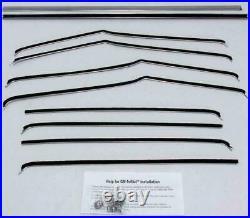 1955-1957 Chevy Belair 4 Door Sedan Window Beltline Weatherstrip Kit 8 Pieces