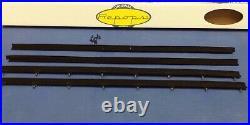 1974-1979 Chevrolet Nova 2 Door Sedan Window Felt Fuzzies Rubber Seal Kit In Stk