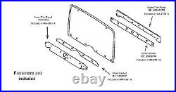 1987-1995 Jeep Wrangler Hard Top Liftgate Trim Kit Hardware