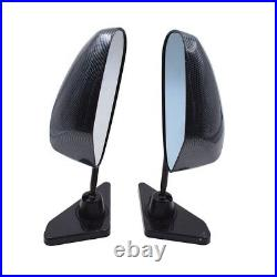 1 Pair Black Triangle Style Carbon Fiber Car Side Rear View Mirrors Accessories