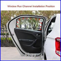 4PC Glass Run Channel Sweep Weatherstripping Seal For Honda Accord Sedan 1994-97
