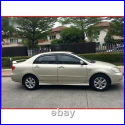 4x Front Rear Door Seal Rubber Weatherstrip For Toyota Corolla Sedan 2001-2007