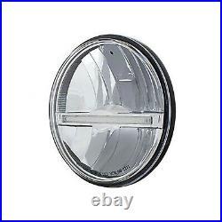 5 3/4 LED High/Low Glass Headlight Headlamp with Amber LED Position Light Bar