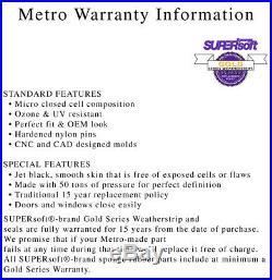 66-70 Electra DeVille Convertible Top Rail Weatherstrip Seal Kit RR1811 USA MADE