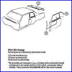 78-88 Monte Carlo Ss Regal Cutlass G-body 5 Pc Weatherstripping Kit