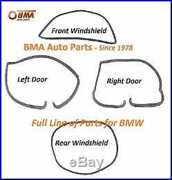 BMW E10 1600 2002 2002tii 4 Piece Seal Kit 2 Doors & Front & Rear Windshields