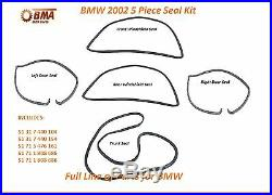 BMW E10 2002 2002tii 5 Piece Seal Kit Doors & Front & Rear Windshields & Trunk
