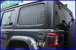 Black Rear Triangular Window Glass Plate Cover For Jeep Wrangler JL 2018-20 4Dr