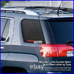 C Pillar Window Glass Sports Plate Molding Red Logo for GMC 2010 2016 Terrain