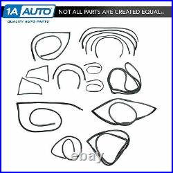 Complete Weatherstrip Seal 19 Pc Kit Set for 70-78 Datsun Z 240 260 280 2 Seater