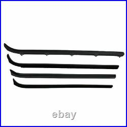 Complete Weatherstrip Seal Kit with Plastic Chrome Trim for 80-86 Ford F Series