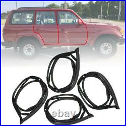 Door Rubber Seal Weatherstrip Front Rear For Toyota Land Cruiser FJ80 1990-1998