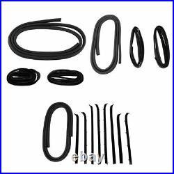 Door Weatherstrip Seal 16 Piece Kit Set for Chevrolet GMC Pickup Truck SUV New