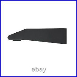 ElectriQ 60cm Black Visor Cooker Hood with Glass Front Top & Rear Venting 5