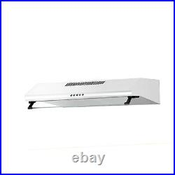 ElectriQ 60cm White Visor Cooker Hood with Glass Front Top & Rear Venting 5
