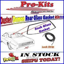 Fits 71 72 73 74 75 76 Duster Demon Rear Window Weatherstrip Gasket Seal