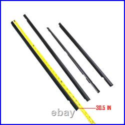 Fits Nissan Datsun Sunny B13 Sentra Front and Rear Door Belt Moulding Outer 4Pcs