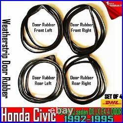 For Honda Civic EG EH EJ sedan DX LX EX 4 DOOR 199295 DOOR SEAL WEATHERSTRIP