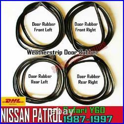 For Nissan Patrol Safari Y60 1987-97 Weatherstrip Door Rubber Complete Seal Set