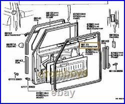 For TOYOTA LAND CRUISER FJ40 BJ40 BJ43 FJ45 HJ47 weatherstrip BELT GLASS DOOR