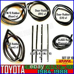 For Toyota Hilux LN50 LN56 LN65 Pickup Weatherstrip Rubber Complete Set of 10