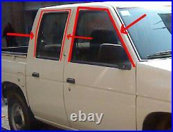 Front Rear Hardbody For Nissan D21 GLASS WINDOW Channel Felt Run RUBBER SEAL