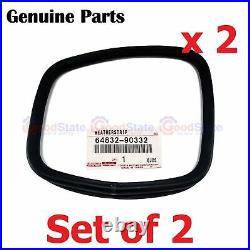 GENUINE Toyota Landcruiser FJ45 Rear Corner Window 1/4 Quarter Glass Rubber x2
