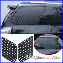 Kit For Toyota 4Runner 2010-2020 Alloy Rear Triangular Window Glass Plate Cover