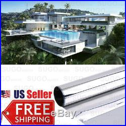 MIRROR SILVER 15% SOLAR REFLECTIVE WINDOW FILM ONE WAY PRIVACY TINT 36 x 50FT