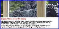 MIRROR SILVER 35% SOLAR REFLECTIVE WINDOW FILM ONE WAY PRIVACY TINT 24 x 100FT