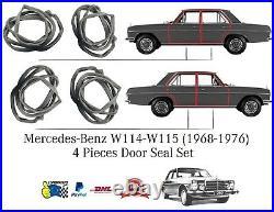 Mercedes-Benz Mercedes W114 W115 (1968-1976) 4 Pcs Rubber Door Seal Set