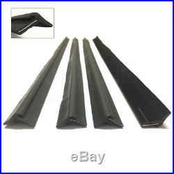 Mercedes W123 W126 Door Window Glass Outer Rubber Seal Set, 1267250365 (4 Pcs)