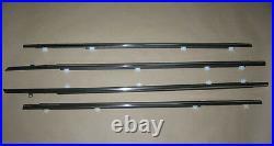 Molding Assy Window Chrome Trim Glass Door Belt Rubber 96-00 Honda Civic DX 4D