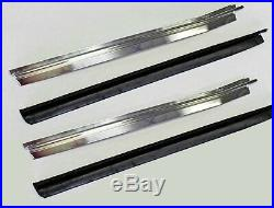 NEW! 1969-1970 Mustang Fastback Door Glass Quarter Window Channels Stainless Set