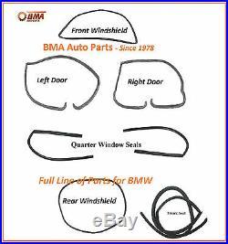 NEW BMW E10 1600 1602 2002 2002tii 7 PIECE BODY SEAL KIT 1967-1974