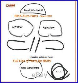 NEW BMW E10 1600 1602 2002 2002tii 9 PIECE BODY SEAL KIT 1967-1976
