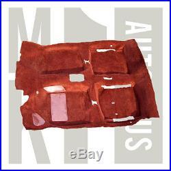 NOS Vw Rabbit Gti Factory Red Molded Carpet US Built 1981 1984 Pickup