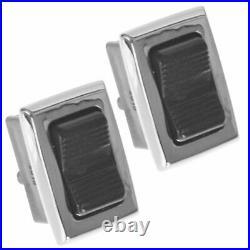 OEM Power Window Door Switch Chrome Black Pair Set 2 for Mercedes W108 W111 114