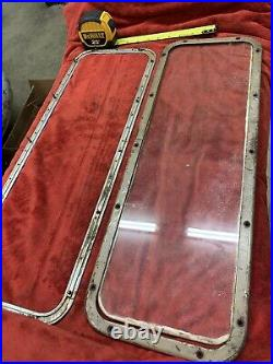 ORIGINAL 1932 1936 Ford Roadster Cabriolet Rear Window Frame and glass hot rod