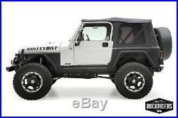 Premium Soft top Canvas + Tinted Rear Windows Black Diamond 97-06 Jeep Wrangler