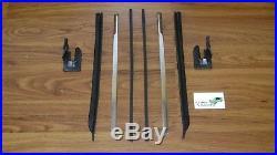Quarter Window Vertical Chrome with Seals/U-Jamb 8pc 68-72 2-door sash moldings