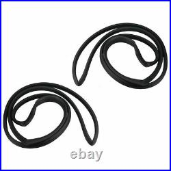 Rear Door Weatherstrips Rubber Seal for Buick Chevy Oldsmobile Pontiac