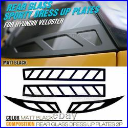 Rear Roof Window Glass Sports Plate Molding Cover for HYUNDAI 2011-2017 Veloster