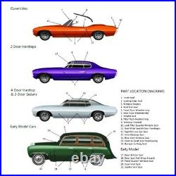 Rear Window Gasket Weatherstrip Seal for Ford Coupe, Sedan, Hardtop 41-48 1Pc