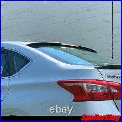Rear window roof spoiler withcenter cut (Fits Nissan Sentra 2013-2019) 284RC