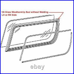 Removable Roof Quarter 1/4 Glass Window Weatherstrip Seal Pair for 80-96 Bronco