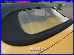 Renault Megane Convertible Rear Glass Window With Zipper Plastic/PVC New