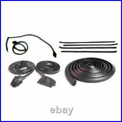 Rubber Door Roofrail Trunk Window Sweep Weatherstrip Seal Kit for 70-81 Camaro