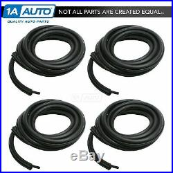 Rubber Weatherstrip Door Seals Front & Rear 4 Pc Set Kit for Jeep Pickup Truck