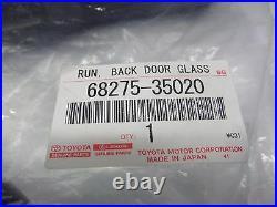 Toyota 4Runner 03-09 Rear Glass Run Channel Weatherstrip Genuine OEM OE